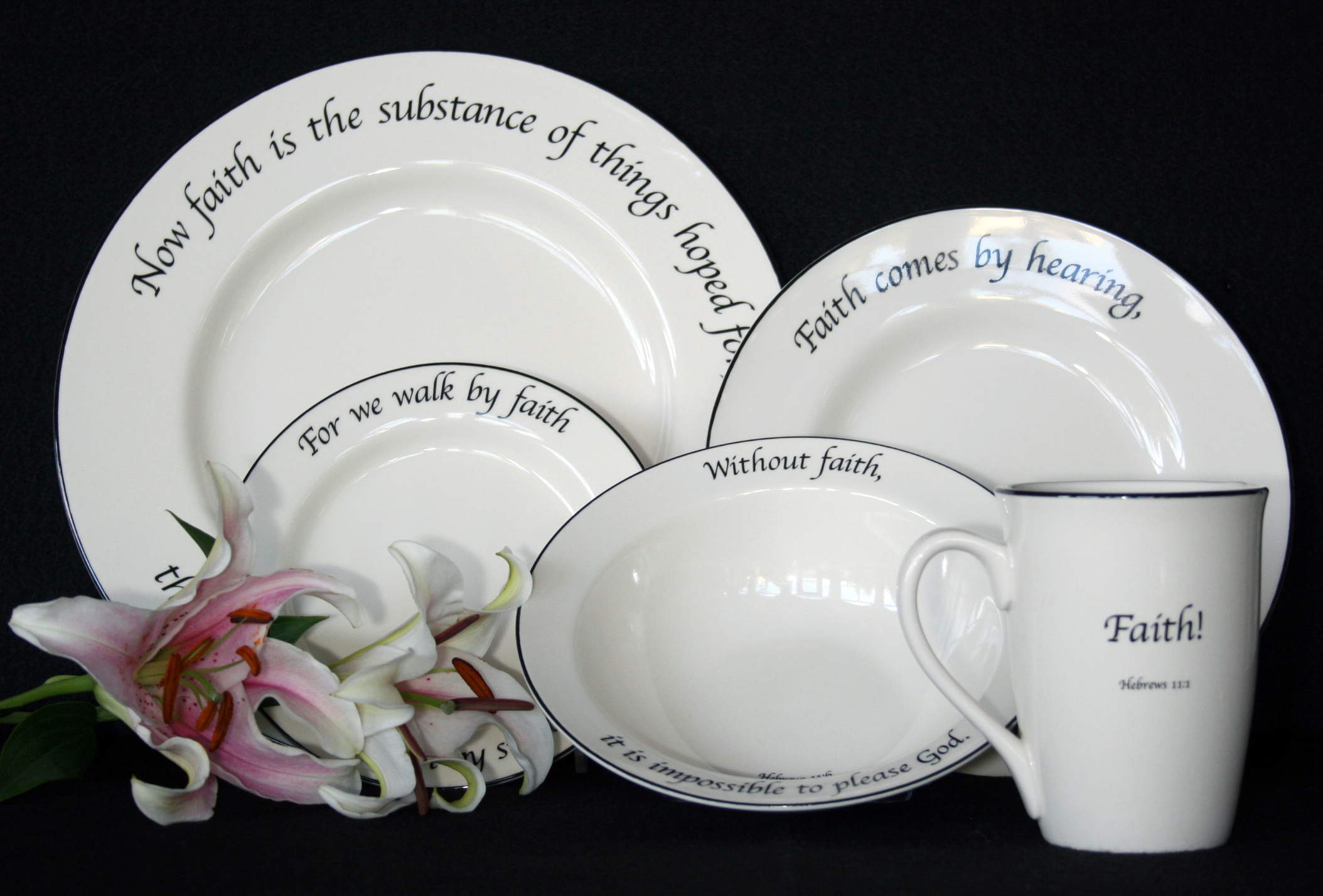 Click on arrow to pick your Mug Replacement & Feed on the Word Dinnerware Replacement Sale Heavenly China Dinnerware