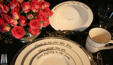 & Feed on the Word Dinnerware at Heavenly China Dinnerware Home Page